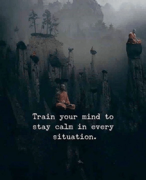 Every Situation: Train your mind to  stay calm in every  situation.