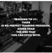 Gym, Programming, and The Link: TRAINING TIP #1:  THERE  IS NO PERFECT TRAINING PROGRAM,  OTHER THAN  THE ONE THAT  YOU CAN STICK WITH. Word. . @DOYOUEVEN - 70% OFF BOXING DAY SALE! 🎉 click the link in our BIO ✔️