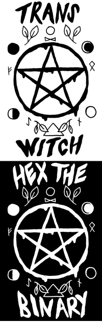 "Tumblr, Blog, and Http: TRAN  WiTCH   NARY <p><a href=""http://boycomet.tumblr.com/post/146001695487/some-t-shirt-designs-for-witchy-trans-kids-which"" class=""tumblr_blog"">boycomet</a>:</p><blockquote><p>some T shirt designs for witchy trans kids ☆ which one is your favorite?</p></blockquote>"