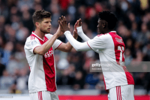 "Lassina Traoré on one of his first days at Ajax sitting at a table with Huntelaar: ""He asked me if I had a PlayStation. I said yes and told him I'd sold Huntelaar on FIFA because he was too old. He replied that when he's the coach of Ajax he will send me back to Burkina Faso."" https://t.co/rv6gE2qHgt: TRANE  gettyimages  Soccrates Images  1143363600 Lassina Traoré on one of his first days at Ajax sitting at a table with Huntelaar: ""He asked me if I had a PlayStation. I said yes and told him I'd sold Huntelaar on FIFA because he was too old. He replied that when he's the coach of Ajax he will send me back to Burkina Faso."" https://t.co/rv6gE2qHgt"
