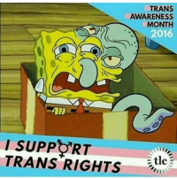 Memes, 🤖, and Tlc: TRANS  AWARENESS  MONTH  2016  RT  TRANS RIGHTS  tlc Acc