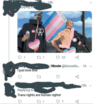 Trans rights... fictional characters.: Trans rights... fictional characters.