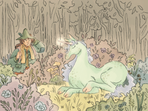 trans-rights-snufkin:  a discovery…(shoutout to the last unicorn) speedpaint : trans-rights-snufkin:  a discovery…(shoutout to the last unicorn) speedpaint