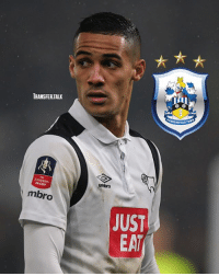 Memes, Sports, and Sky Sports: TRANSFER TALK  'acup  mbro  JUST  EAI  ERSFIELD Huddersfield have had a £7.2m bid for Tom Ince rejected by Derby, according to Sky Sports.