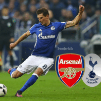 Arsenal will compete with north London rivals Tottenham to sign Schalke's Leon Goretzka after the 22-year-old Germany midfielder turned down a new contract. (Daily Mirror): Transfer talk  Arsenal  OTTENHAM  HOTSPUR Arsenal will compete with north London rivals Tottenham to sign Schalke's Leon Goretzka after the 22-year-old Germany midfielder turned down a new contract. (Daily Mirror)