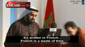 Adolf Hitler responds to protests from the international community for repeatedly breaking the Treaty of Versailles (1939): TRANSLATED BY  It's written in French...  French is a waste of time. Adolf Hitler responds to protests from the international community for repeatedly breaking the Treaty of Versailles (1939)