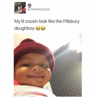 "Bless Up, College, and Hello: @TRAPHOUDINI  My lil cousin look like the Pillsbury  doughboy Ladies beware this holiday season. If u see a overstuffed adorable marshmallow lookin ass boy like this he gon make eyes at u. He gon smile at u. He gon giggle at u. But when u take him from his mama his super breastmilk protein strenth gon kick in and he gon reach directly into your button-up blouse, clutch a titty, pull it out, and whip his face around aggressively whilst he attempts to have lunch. One moment shit's sweet and u talking to your lil cousin about how she just started college and gon major in communications (side note: why every pretty girl major in communications bruh? What is this major anyway? Does anybody know? Lol). And the next minute your titty is flashing the entire room. Nipple all out just like ""oh hello Susan, you look great, the stuffing is delicious - how did you season it?"" That's what smart ass lil breastfed babies like this do. They expose titties. So with that said, protect ya titties this holiday season. Ya get me?! Bless up 😂😂😂"