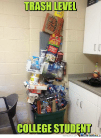 There's still some space left!: TRASHLETEL  COLLEGE STUDENT  memecenter-com There's still some space left!