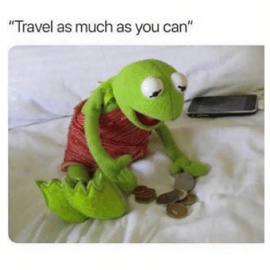 "Dank, Travel, and Back: ""Travel as much as you can"" Travel to the front door and back."