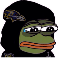 TRAVEN Sad Baltimore Ravens Pepe