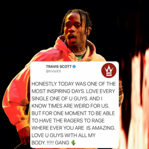 Travis Scott had this to say about his Fortnite concert! Did y'all watch it? 👇🎮🎶 @trvisXX @FortniteGame https://t.co/9Sz1CR8udm: Travis Scott had this to say about his Fortnite concert! Did y'all watch it? 👇🎮🎶 @trvisXX @FortniteGame https://t.co/9Sz1CR8udm