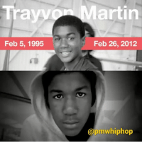 Memes, 🤖, and Gun: Trayv  Feb 5, 1995  artin  Feb 26, 2012  @pmwhiphop Five years ago today, Trayvon Martin was shot and killed walking down a street. His killer GeorgeZimmerman was acquitted in Florida and walked away free. He later auctioned the gun he used to kill Trayvon; it was sold to the highest bidder for $250,000. RIP TrayvonMartin BlackLivesMatter