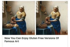 Now every can enjoy art!: tre  MUSE  Now You Can Enjoy Gluten Free Versions Of  Famous Art Now every can enjoy art!