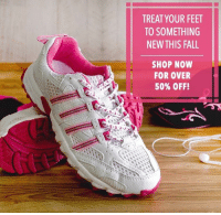 Dank, Fall, and Shoes: TREAT YOUR FEET  TO SOMETHING  NEW THIS FALL  SHOP NOW  FOR OVER  50% OFF! Shoes Shoes Shoes! Find your new favorites at The Breast Cancer Site's Fall Footwear Sale! Purchases fund cancer research & care for women in need!  ★ORDER NOW★ http://po.st/nuroko