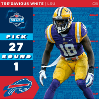 Memes, Dick, and White: TRE'DAVIOUS WHITE I LSU  SU  DEAT  DRAFT  2017  DICK  27  ROUND  C B The @buffalobills select @LSUfootball CB @TreWhite16 with the 27th overall pick!  #NFLDraft https://t.co/1c4t6pd8WU
