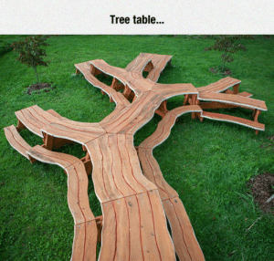 Club, Tumblr, and Blog: Tree table..  24 laughoutloud-club:  I Like The Kid Sections At The End Of The Branches
