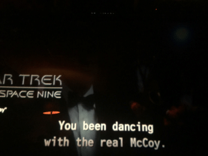 Dancing, Star Trek, and Space: TREK  SPACE NINE  You been dancing  with the real McCoy Worf gets denied, McCoy gets reassigned