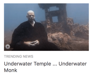Basketball, Dunk, and News: TRENDING NEWS  Underwater Temple.. Underwater  Monk megapope:  portentsofwoe:  alienpapacy: trending news underwater temple, underwater monk underwater rhymes and underwater funk he sleeps in the sea in an underwater bunk with mirrors all around him hes an underwater hunk  he's got underwater junk in his underwater trunk on the basketball court he does a nautical dunk   he's got a little stash of underwater skunk underwater temple, underwater monk