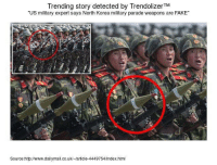 Military: Trending story detected by TrendolizerTM  US military expert says North Korea military parade weapons are FAKE