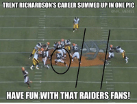 Trent Richardson's career: TRENT RICHARDSON'S CAREERSUMMEDUPIN ONE PIC  ONFL MEMES  HAVE FUN WITH THAT RAIDERS FANS! Trent Richardson's career