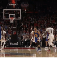 Steph with yet another made 3 pointer that he didn't need to see actually go through the hoop. (via @warriors): TRETISSOT  224 Steph with yet another made 3 pointer that he didn't need to see actually go through the hoop. (via @warriors)