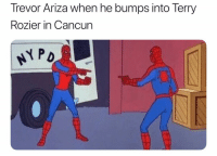 Basketball, Nba, and Sports: Trevor Ariza when he bumps into Terry  Rozier in Cancun 42 minutes 0 points😳 nbamemes nba warriors rockets (Via gifdsports-Twitter)
