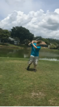 Golf Club Flies out of Man's Hands: _Tri Golf Club Flies out of Man's Hands