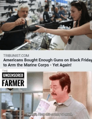 America, Black Friday, and Friday: TRIBUNIST.COM  Americans Bought Enough Guns on Black Friday  to Arm the Marine Corps - Yet Again!  THE  UNCENSORED  FARMER  Dammit, I love this country so much Only in America