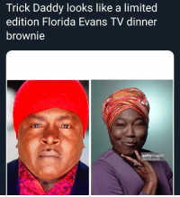 I never thought I would live to see the day that one of my favorite 90's rappers would go from Trick Loves The Kids to Trick Loves The Kids Cuisine 😂😂😂😂 DamnDamnDamn: Trick Daddy looks like a limited  edition Florida Evans TV dinner  brownie  gettyimages  CBS Photo  Archive I never thought I would live to see the day that one of my favorite 90's rappers would go from Trick Loves The Kids to Trick Loves The Kids Cuisine 😂😂😂😂 DamnDamnDamn