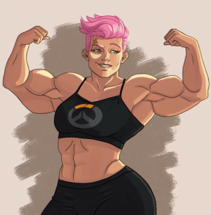 tricksart:  I see your wimpy skinny Zarya and raise you bodybuilding goddess Zarya 💕❤️: tricksart:  I see your wimpy skinny Zarya and raise you bodybuilding goddess Zarya 💕❤️