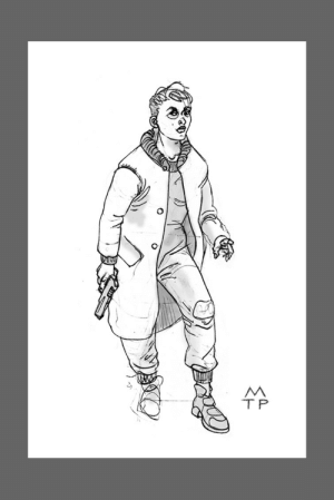 Tried to draw a blade Runner Sci Fi character: Tried to draw a blade Runner Sci Fi character
