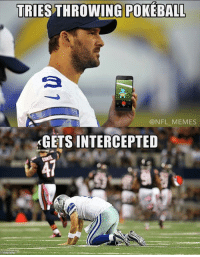 One more Cowboys meme won't hurt...: TRIES THROWING POKEBALL  @NFL MEMES  KGETS INTERCEPTED One more Cowboys meme won't hurt...