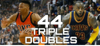 Russell Westbrook ties LeBron James for 6th All-Time Career Triple Doubles with 44!  #Beastbrook #KingJames #TripleDoubleKingsOfThisEra  -STATS: TRIPLE  DOUBLES Russell Westbrook ties LeBron James for 6th All-Time Career Triple Doubles with 44!  #Beastbrook #KingJames #TripleDoubleKingsOfThisEra  -STATS