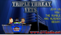 The bell has rang and it's on now! Triple Threat Vets is about Survivor Series, The Shield, AJ Styles, and much more!! Join us in the chat-room!!: TRIPLETHREAT  VETS  JOIN US  NOW  THE FUMBLE  HAS FLRERDY  EEGUN!  wWw.DVRadione The bell has rang and it's on now! Triple Threat Vets is about Survivor Series, The Shield, AJ Styles, and much more!! Join us in the chat-room!!