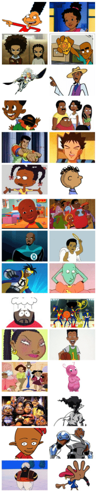 """Black History Month, Doug, and Dragonball: TRO <p><a href=""""http://bollytolly.tumblr.com/post/154070505963/stefanoprugante1-black-history-month-this-is"""" class=""""tumblr_blog"""">bollytolly</a>:</p>  <blockquote><p><a href=""""http://stefanoprugante1.tumblr.com/post/76311403957/black-history-month-this-is-my-tribute-to-the"""" class=""""tumblr_blog"""">stefanoprugante1</a>:</p>  <blockquote><p>BLACK HISTORY MONTH!</p>  <p>This is my tribute to the black cartoon characters I grew up watching. Happy Black History Month.</p>  <p>1. Gerald - Hey Arnold<br/> 2. Keesha - The Magic School Bus<br/> 3. Huey &amp; Riley Freeman - The Boondocks<br/> 4. Fillmore - Fillmore<br/> 5. Storm - X-Men<br/> 6. Sunny Bridges - Class of 3000<br/> 7. C Bear and Jamal - C Bear and Jamal<br/> 8. The Browns - The Cleveland Show<br/> 9. Kwame - Captain Planet<br/> 10. Brock - Pokemon<br/> 11. Susie - The Rugrats<br/> 12. Franklin - Peanuts<br/> 13. Little Bill - Little Bill<br/> 14. The Junkyard Gang - Fat Albert &amp; The Cosby Kids<br/> 15. John Stewart - Justice League<br/> 16. Gary Coleman - The Gary Coleman Show<br/> 17. Static Shock - Static Shock<br/> 18. Skeeter - Doug (yes Skeeter is black… Don't question it) <br/> 19. Chef - South Park<br/> 20. The Harlem Globetrotters - The Super Globetrotters<br/> 21. Miranda - As Told By Ginger<br/> 22. Vince - Recess<br/> 23. The Prouds - The Proud Family<br/> 24. Uniqua - The Backyardigans (her name is Uniqua… Don't question it) <br/> 25. The Tenants of the Lawrence Hilton-Jacobs Projects - The Pjs<br/> 26. Afro Samurai - Afro Samurai<br/> 27. Damey Wayne - Waynehead<br/> 28. Cyborg - Teen Titans<br/> 29. Mr. Popo - Dragonball Z (let me have this one)<br/> 30. Numbuh 5 - Kids Next Door</p></blockquote>  <p>I'm not questioning Uniqua but Brock? Huh?</p></blockquote>  <p>Literally how is Brock black? Did I miss that? And Skeeter??</p>"""