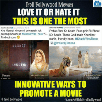 #Phillauri #Shashiwasthere :P: Troll Bollywood Memes  TB  LOVE ITOR HATE IT  THIS ISONE THE MOST  Anushka Sharma  AnushkaSharma Mar 15  Anushka Sharma  Kya Mannat ki oonchi dewaarein rok  Pehle Sher Ke Saath Fasa phir Ek Bhoot  payengi Shashi ko #ShashiWasThere  Kee Saath. Thank God main Khunkhar  Find out soon  nahin, friendly hoon  #ShashiWas There  almSuraj Sharma  MANNAT  LANDS END  Phillauri  HSHASHIWASTHERE  #SHASHIWASTHERE???  LOCATION: UNKNOWN  24 March 2017  DATE UNKNOWN  INNOVATIVE WAYSTO  PROMOTE A MOVIE  Troll Bollywood  fb.comuofficialtrollbollywood #Phillauri #Shashiwasthere :P
