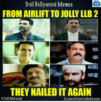 Memes, Bollywood, and 🤖: Troll Bollywood Memes  TB  THEY NAILEDIT AGAIN  o Troll Bollywood  fb.com/officialtrollbollywood Hell Yeah!!  <DM>