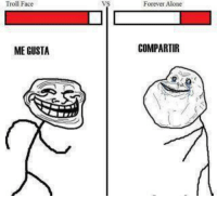 troll face: Troll Face  ME GUSTA  Forever Alone  COMPARTIR