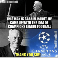 GENIUS!👌🏻❤️ ⚠️Football Emoji's --> LINK IN OUR BIO!🔥: Troll Football  THIS MANIS GABRIEL HANOT HE  CAMEUP WITH THE IDEA OF  CHAMPIONSLEAGUE FOOTBALL  CHAMPIONS  THANK YOU SIR! AGUE GENIUS!👌🏻❤️ ⚠️Football Emoji's --> LINK IN OUR BIO!🔥