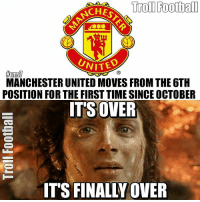 Tag a Man Utd fan 😂: Troll Football  UNITED  MANCHESTER UNITED MOVES FROM THE6TH  POSITION FOR THE FIRSTTIME SINCE OCTOBER  ITS OVER  IT'S FINALLY OVER Tag a Man Utd fan 😂