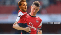 Memes, 🤖, and Kane: @TrollFootball  ares Koscielny and Harry Kane walking off the pitch together after the NLD 😂👏🏽👶🏽 Derby NLD