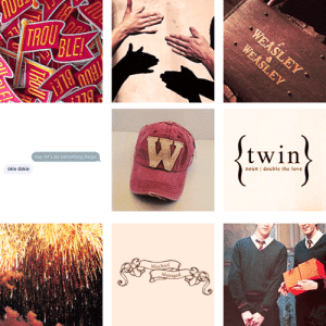 "mechaniicreyes: moodboards (17/?): Fred and George Weasley (Harry Potter) ""Where's the fun without a bit of risk?""  : TROU  BLE  twin  hey let's do something Begal  oiie dokie  noun double the love  Mischief  Man mechaniicreyes: moodboards (17/?): Fred and George Weasley (Harry Potter) ""Where's the fun without a bit of risk?"""