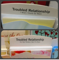 "Bad, Relationships, and Tumblr: Troubled Relationship  I Wish I Could Go Back  he the n  Troubled Relationship  It's Not Perfect, But It's Ours  in <p><a href=""http://memehumor.tumblr.com/post/151056062653/bad-relationships-are-best-handled-via-greeting"" class=""tumblr_blog"">memehumor</a>:</p>  <blockquote><p>Bad Relationships Are Best Handled Via Greeting Cards<br/><a href=""http://memehumor.tumblr.com""><span style=""color: #0000cd;""><a href=""http://memehumor.tumblr.com"">http://memehumor.tumblr.com</a></span></a></p></blockquote>"