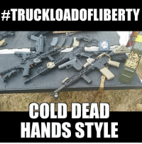 Memes, Cold, and 🤖:  #TRUCKLOADOFLIBERTY  COLD DEAD  HANDS STYLE #TruckloadOfLiberty