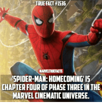 What's been your favorite film from Phase 3? 🤔: TRUE FACT #1536  MARVELTRUEFACTS  SPIDER-MAN: HOMECOMINGIS  CHAPTER FOUR OF PHASE THREE IN THE  MARVEL CINEMATIC UNIVERSE. What's been your favorite film from Phase 3? 🤔