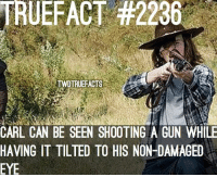 Carl Grimes shooting tactics ! carlgrimes thewalkingdead twd walkingdead ChandlerRiggs: TRUE FACT #2236  TWDTRUEFACTS  CARL CAN BE SEEN SHOOTING A GUN WHILE  HAVING IT TILTED TO HIS NON-DAMAGED  EYE Carl Grimes shooting tactics ! carlgrimes thewalkingdead twd walkingdead ChandlerRiggs