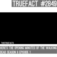 Opening minutes, I would post the link but it won't be available for some of you guys! It's better this way! - @itsbrandon.t ! twd walkingdead thewalkingdead: TRUE  FACT #2849  TWDTRUEFACTS  HERE'S THE OPENING MINUTES OF THE WALKING  DEAD SEASON 9 EPISODE 1 Opening minutes, I would post the link but it won't be available for some of you guys! It's better this way! - @itsbrandon.t ! twd walkingdead thewalkingdead