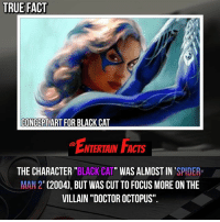 "Who knew? I think it's good they didn't try and shoe horn her into such a great movie. QOTD: Would you have liked to have seen Black Cat in spiderman2 ? 🎥 • strangerthings gameofthrones thewalkingdead gotham arrow cars3 justiceleague movies thehouse tvshows theflash tlk themist americangods youtube got marvel fearthewalkingdead starwars dbz mw love followme wwe like spiderman babydriver transformers homecoming: TRUE FACT  CONCEPTART FOR BLACK CAT  NTERTAIN FACTS  THE CHARACTER""BLACK CAT"" WAS ALMOST IN'SPIDER  MAN 2 (2004), BUT WAS CUT TO FOCUS MORE ON THE  VILLAIN ""DOCTOR OCTOPUS"". Who knew? I think it's good they didn't try and shoe horn her into such a great movie. QOTD: Would you have liked to have seen Black Cat in spiderman2 ? 🎥 • strangerthings gameofthrones thewalkingdead gotham arrow cars3 justiceleague movies thehouse tvshows theflash tlk themist americangods youtube got marvel fearthewalkingdead starwars dbz mw love followme wwe like spiderman babydriver transformers homecoming"