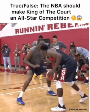 @nba get this done 💯: True/False: The NBA should  make King of The Court  an All-Star Competition  RUNNIN' REBE.  5  @Real_NBAMemes @nba get this done 💯