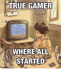 Memes, 🤖, and Wii: TRUE GAMER  WHERE ALL  STARTED Memories :'( ♥️DOUBLE TAP FOR GAMING♥️ 👇🏼COMMENT YOUR FIRST GAME👇🏼 🎮Follow my other page, no shoutouts ever 👉🏼@gamefade ➖➖➖➖➖➖➖➖ 🎮Credit; @gamingstunts 🚀Turn on Post Notifications ❤️Double Tap ➖➖➖➖➖➖➖➖ ▪️Hashtags - (ignore please). CallofDuty Xbox singleplayer counterstrike BlackOps2 CodMemes Playstation Gamer Halo multiplayer Destiny Minecraft XboxOne Xbox360 GTA5 GTAV BlackOps3 9gag BO3 BO2 wiiu Games VideoGames gamers steam csgo Wii console multiplayer 😏Tag a friend if you see this😏